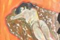 nude woman on blanket